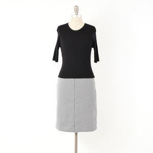Theory Sweater Knit Houndstooth Dress